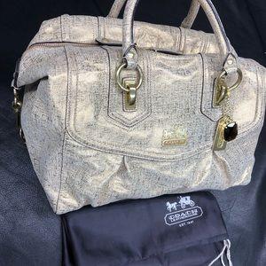Coach Audrey convertible satchel vintage gold